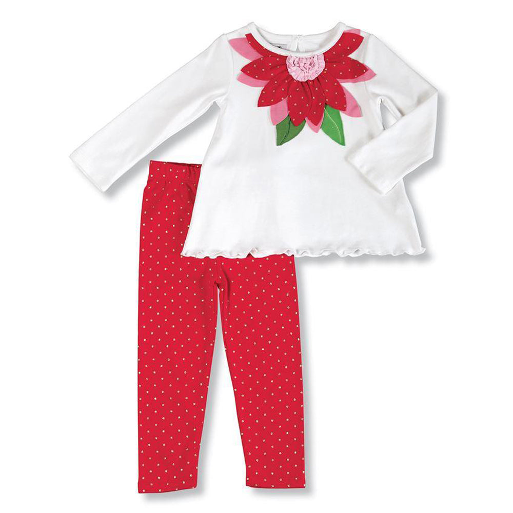 Poinsettia Tunic & Leggings Set
