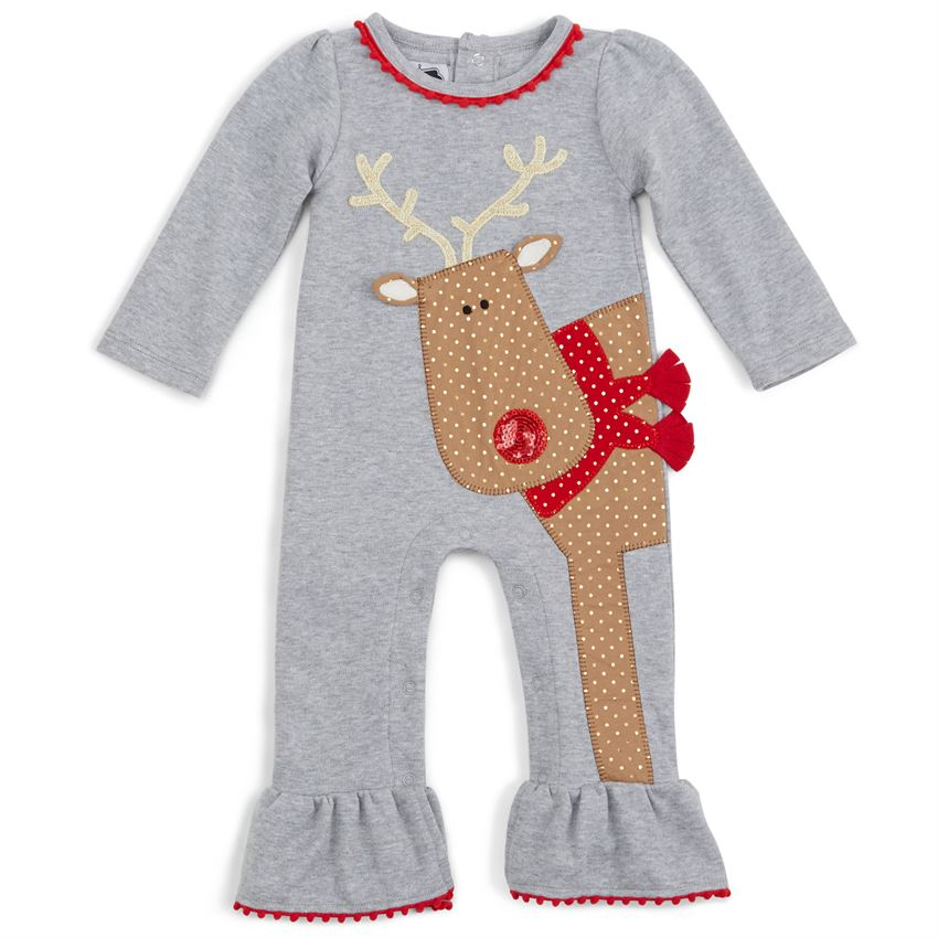 Girls Reindeer Coverall - Season to Sparkle