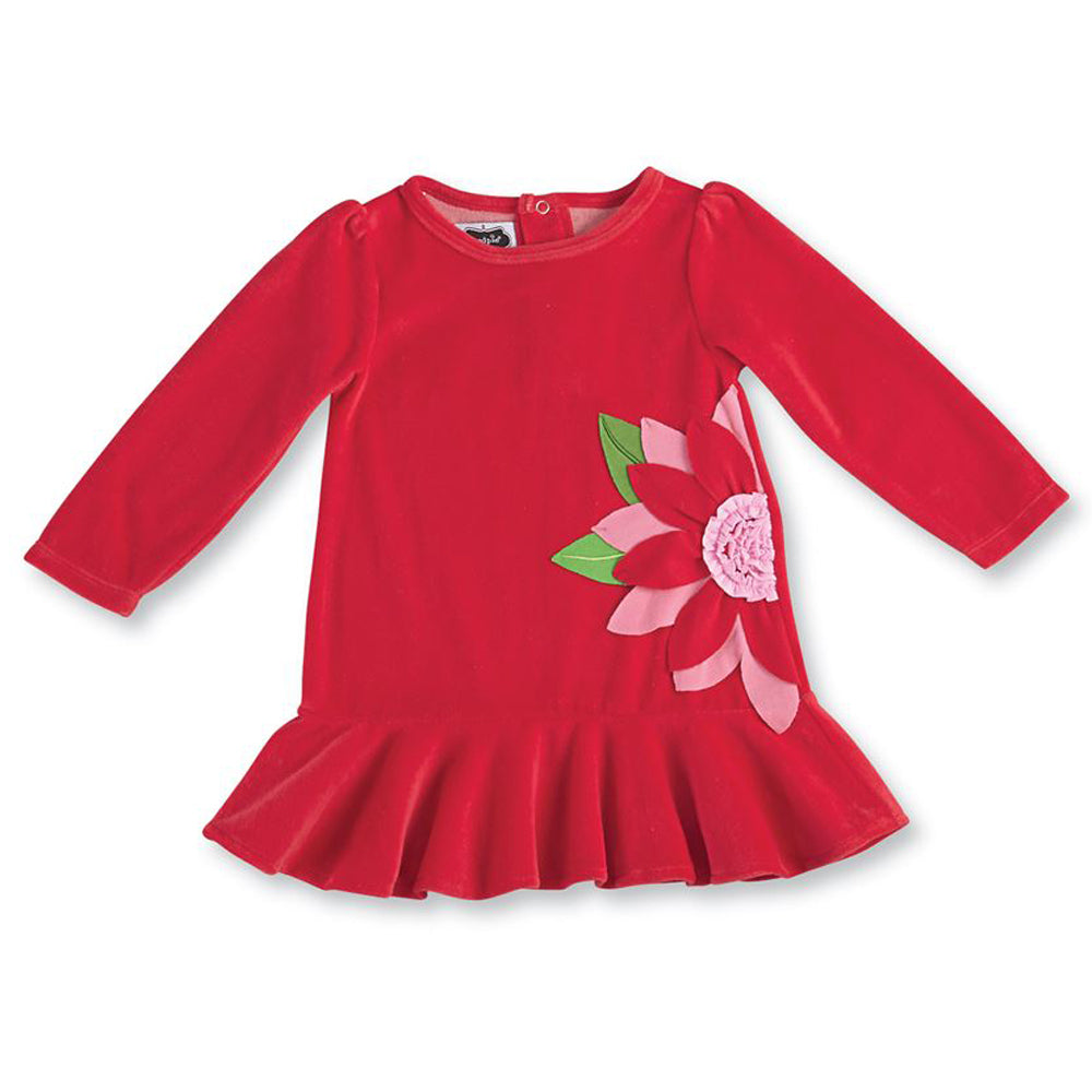Poinsettia Flounce Dress