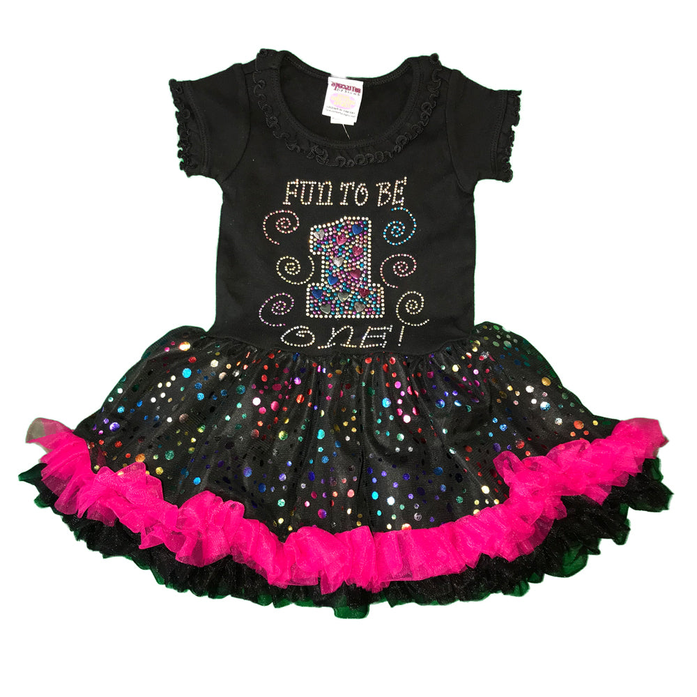 Fun to be 1, 2 and 3 Birthday Dress