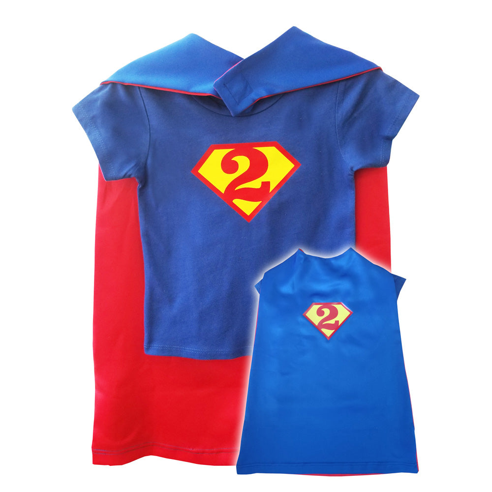 Superman Birthday Shirt and Cape Set