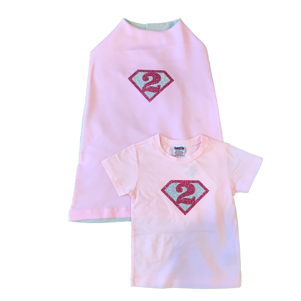 Supergirl Birthday Shirt and Cape Set