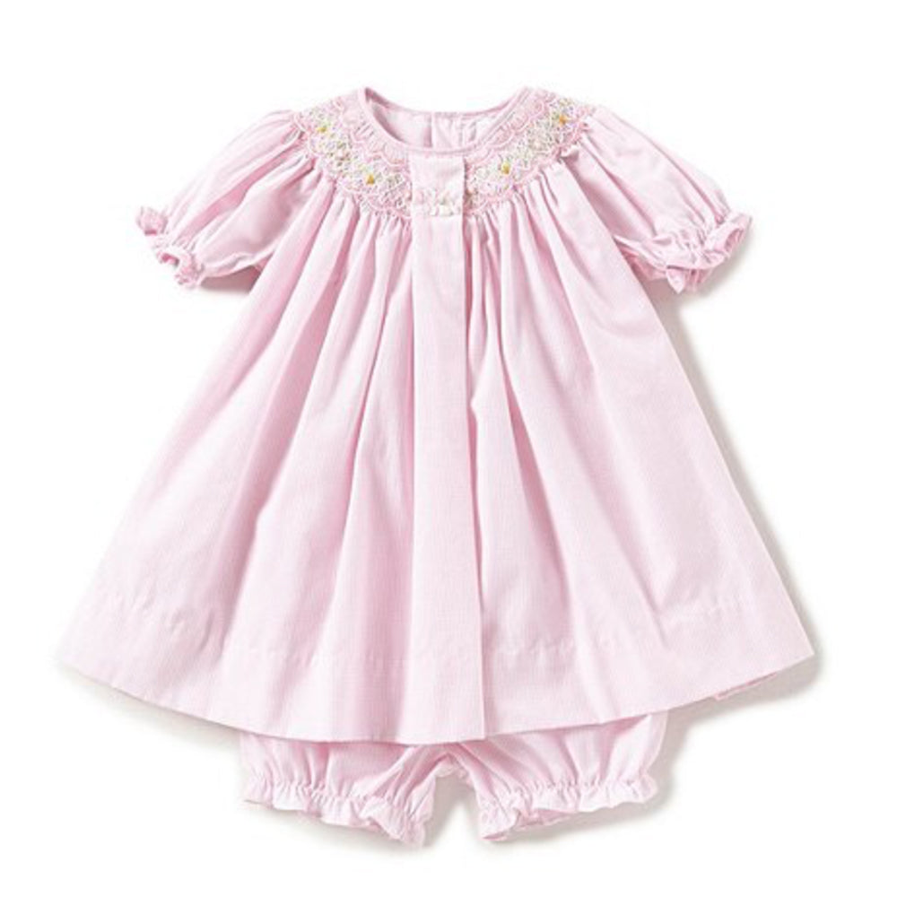Baby Girls Easter Bunny Smocked Dress