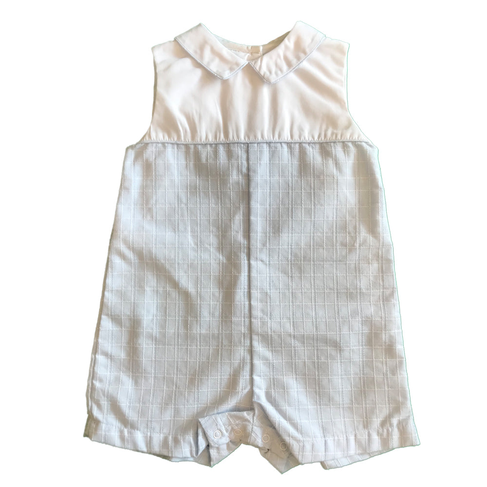 Baby Boys Blue and White Collared Shortall