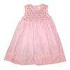 Toddler and Little Girls Pink Smocked Embellished Dress