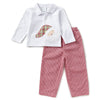 Toddler Boys Santa Applique Pant Set