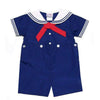 Boys Navy Sailor Suit Romper