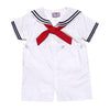 Boys White Sailor Suit Romper