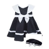 Girls Navy Nautical Dress with Bow and Hat