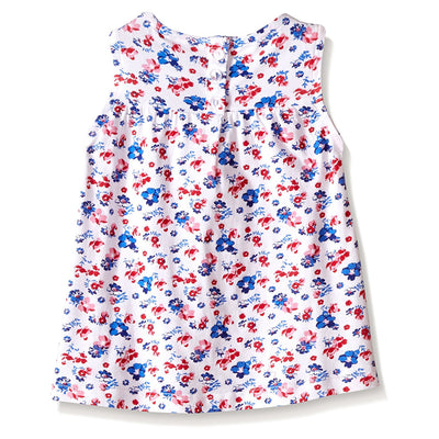 Americana Floral print tank and short set