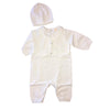 Christening Ivory White Vested Longall with Hat
