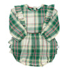 Hollis Plaid Waterfall Bubble Romper