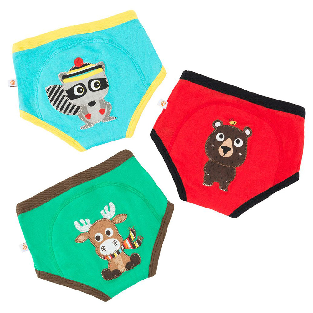 Forest Chums ORGANIC Boys Potty Training Pant 3 pc Set