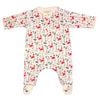 Organic Cotton Baby Boys Crab Print Footie