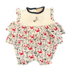 Organic Baby Girls Crab Print French Bubble Romper