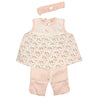 Organic Feather Print Capri Set for baby and Toddler Girls