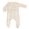 Organic Cotton Baby Boys Fishies Print Footie