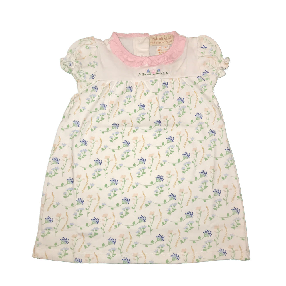 Organic Baby Girls Flower Print Dress and Bloomer Set