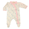 Organic Baby Girls Flower Print Footie