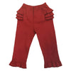 Baby Girls Red Knit Ruffle Pants