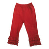 Toddler Girls Red Knit Ruffle Pants