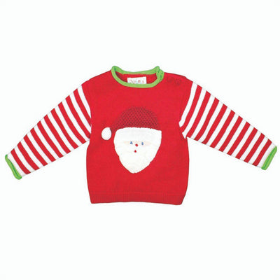 Hand Knit Cotton Santa Sweater