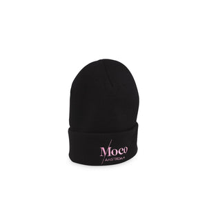 Load image into Gallery viewer, Moco Beanie Black - Pink