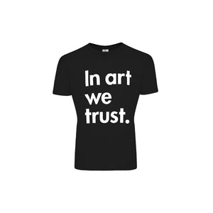 Load image into Gallery viewer, Black T-Shirt – In Art We Trust
