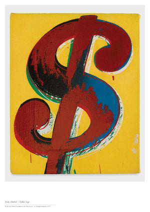 Poster A1: Andy Warhol - Dollar Sign Yellow