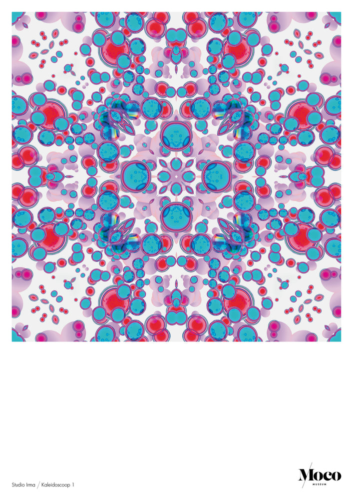 Load image into Gallery viewer, Poster A1: Studio Irma - Kaleidoscope Blue