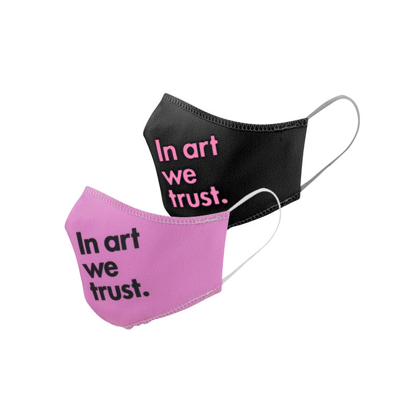 Load image into Gallery viewer, Face Masks, set of 2 Pink & Black