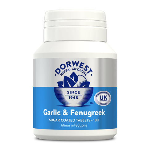 Garlic & Fenugreek Tablets For Dogs And Cats