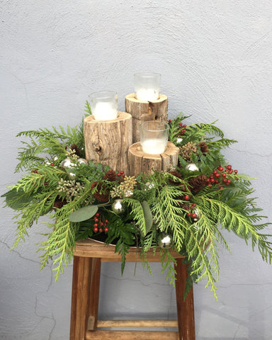 Rustic Candle Centerpiece