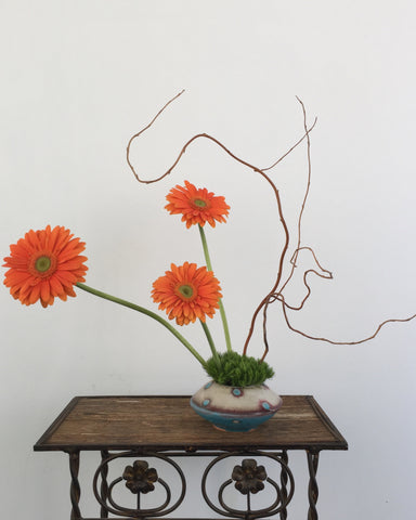 Zen Gerbera in Local Pottery