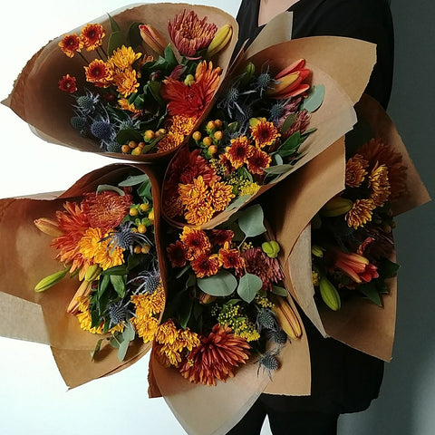Fall Wrapped Flowers