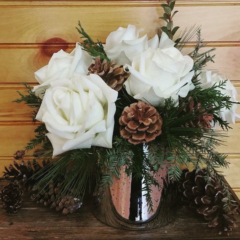 White Roses and Pine