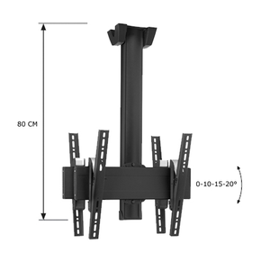 Vogel's SET C/R 0822 TV Back-to-back Loftsophæng Sort 80cm