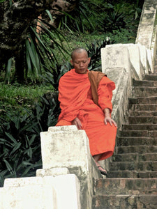 Sitting Monk, Lao - Worlds Abroad