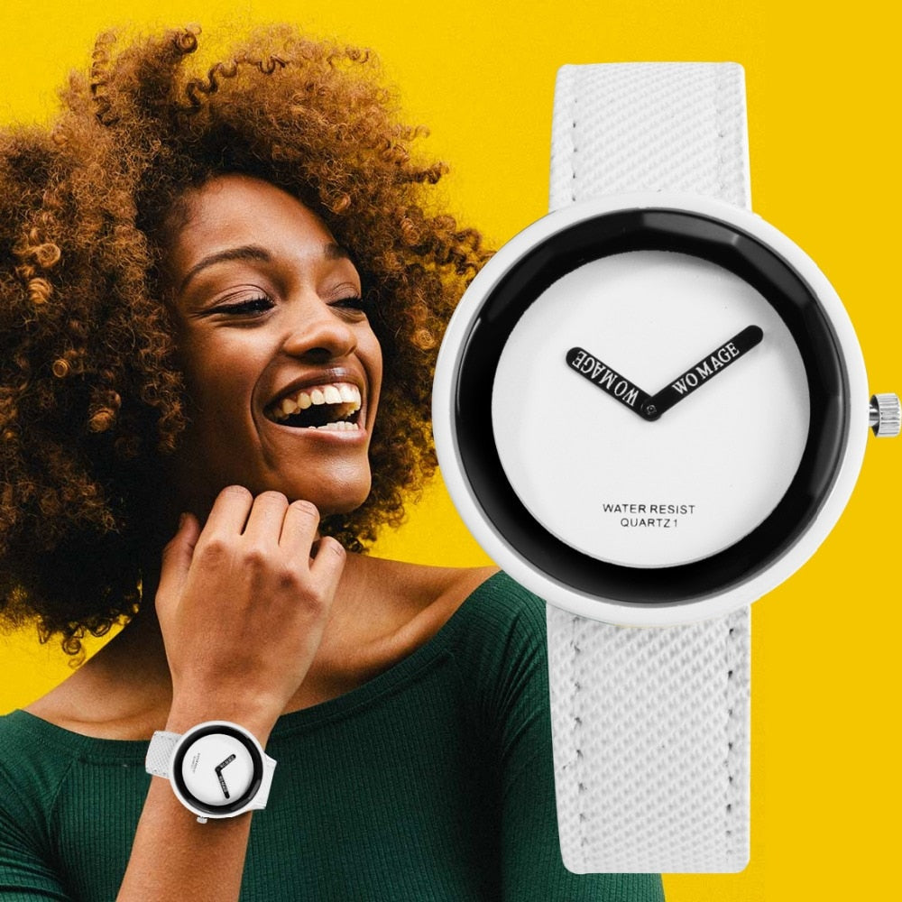 Minimalist Leather Ladies Watch - Worlds Abroad