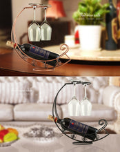 Load image into Gallery viewer, Metal Hanging Wine Glass Display - Worlds Abroad