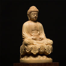 Load image into Gallery viewer, Hand-Carved Wooden Buddha Statue - Chancery Lane