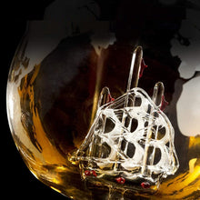 Load image into Gallery viewer, Whiskey Decanter Globe & Glass Set - Worlds Abroad