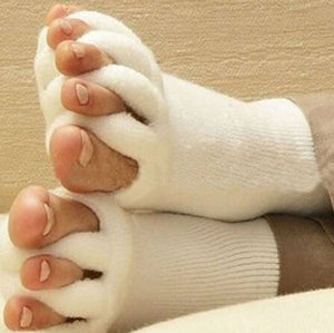 Fluffy Five Fingers Toes Socks - Worlds Abroad