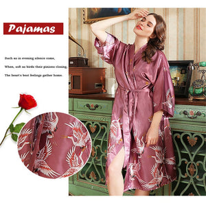 Satin Japanese Nightgown - Worlds Abroad