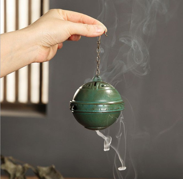 Ceramic Incense Burning Home Decoration Sculpture - Worlds Abroad