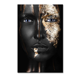 Black and Gold Woman - Worlds Abroad