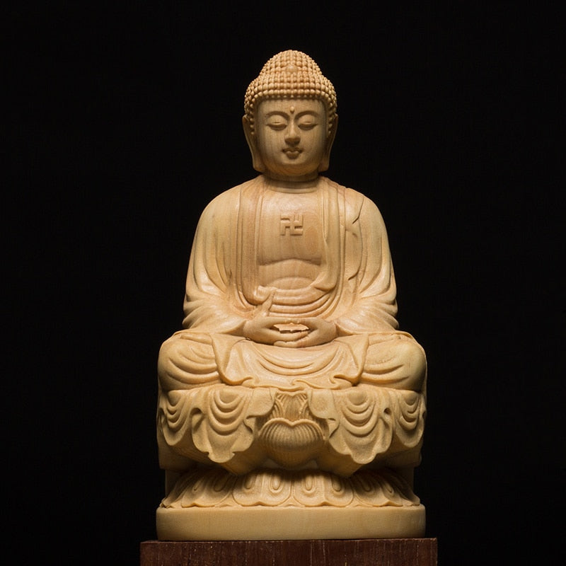 Hand-Carved Wooden Buddha Statue - Chancery Lane