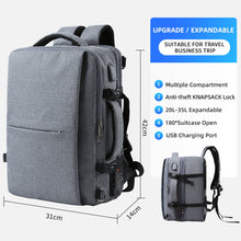 Load image into Gallery viewer, Double Compartment Backpack with Unique Digital Bag for 15.6 inch Laptop - Worlds Abroad