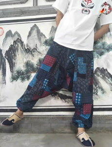 A Summer Nepal Will Crotch Pants Thailand Yoga Pants Will Code Easy Lovers Pants Yunnan Cotton Men And Women Dongba Trousers - Chancery Lane