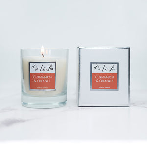 Cinnamon & Orange Scented Candle